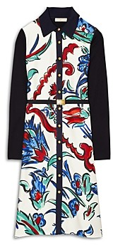 Tory Burch Silk Front Belted Shirt Dress