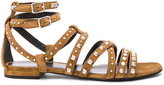 Saint Laurent Suede Multistud Nu Pieds Sandals