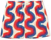 Dries Van Noten Printed Mid-Length Ripstop Swim Shorts