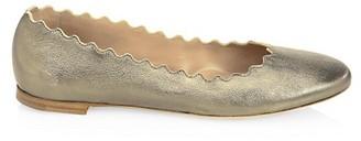 Chloé Lauren Metallic Leather Ballet Flats