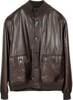 Schiatti & Co. Men's Dark Brown Leather Jacket w/Chasmere Lining