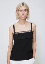 Lanvin Black Lace Trim Tank