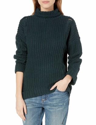 UNIONBAY Women's Shaker Rib Nicole Mock Neck Sweater