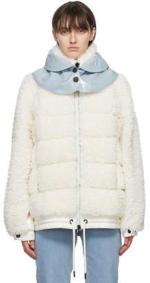 MONCLER GRENOBLE White Down Fleece Puffer Jacket