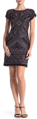 Vince Camuto Glitter Detail Bodycon Dress