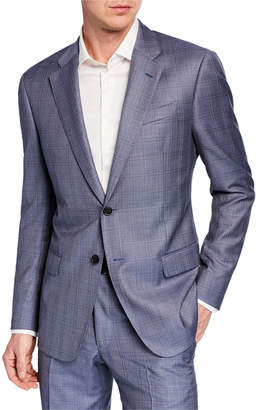 Emporio Armani Men's G Line Super 140s Wool Plaid Two-Piece Suit
