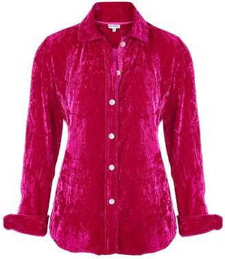 AtLAST Karen Silk Velvet Shirt Hot Pink