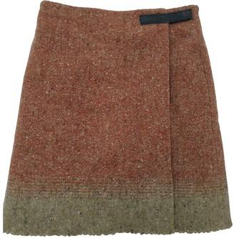 Brooksfield Orange Wool Skirt for Women