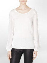 Calvin Klein Sheer Long Sleeve Sweater