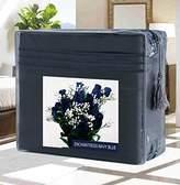 Elegant Comfort Wrinkle-Free 1500 Thread Count Egyptian Quality Deep Pocket, 4-Piece Bed Sheet Set , Full, Enchantress - Navy