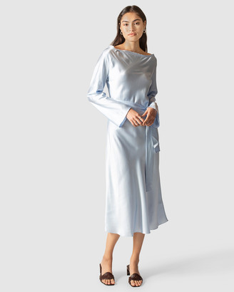 GINIA RTW - Women's Maxi dresses - Ella Silk Satin Dress - Size One Size, S at The Iconic