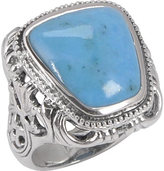 Barse Women's Carved Turquoise Ring CRVDR05MT1