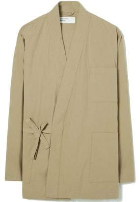 Universal Works Kyoto Work Jacket In Sand Ripstop Cotton - M