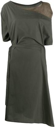Yohji Yamamoto draped front dress