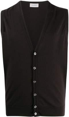 John Smedley wool sleeveless cardigan