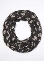 Black Swan Print Snood