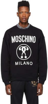 Moschino Black Double Question Mark Sweatshirt
