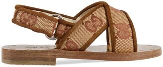 Gucci Toddler GG canvas sandal