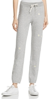 Sundry Daisies Embroidered Sweatpants