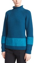 Jil Sander Stripe Wool & Cashmere Turtleneck