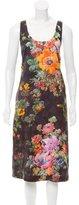 Dries Van Noten Floral Jacquard Midi Dress