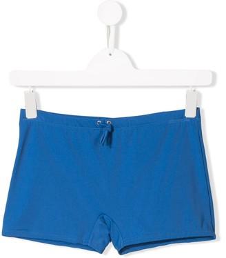 Diesel back print swim shorts