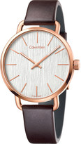 Calvin Klein K7B216G6 Even stainless steel and leather watch