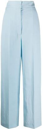 Alberta Ferretti High-Rise Wide-Leg Trousers
