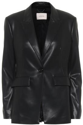 Dorothee Schumacher Sleek Tailoring faux leather blazer