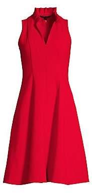 Black Halo Women's Antoinette Collared Flare Dress - Size 0