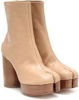 Maison Margiela Tabi platform leather boots