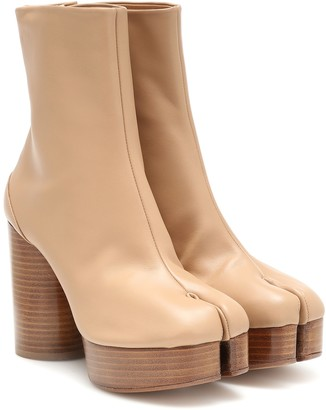 Maison Margiela Tabi platform leather boots