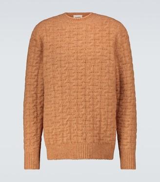 Nanushka Virote cable-knitted crewneck sweater
