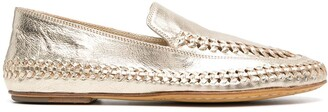 Officine Creative Metallic-Effect Loafers