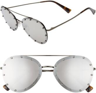 Valentino 58mm Metal Aviator Sunglasses