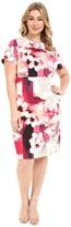 Calvin Klein Plus Plus Size Print Sheath w/ Cap Sleeve