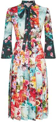 Mary Katrantzou Floral Pleated Desmine Dress