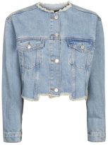 Topshop Moto choppy crop denim jacket