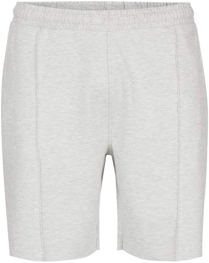 Topman Grey Pleat Jersey Shorts