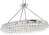 Crystorama Calypso 8-Light Oval Chandelier - Chrome