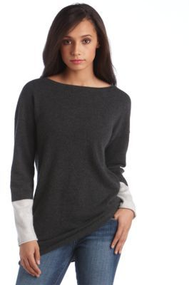 Lord & Taylor Cashmere Colorblocked Tunic