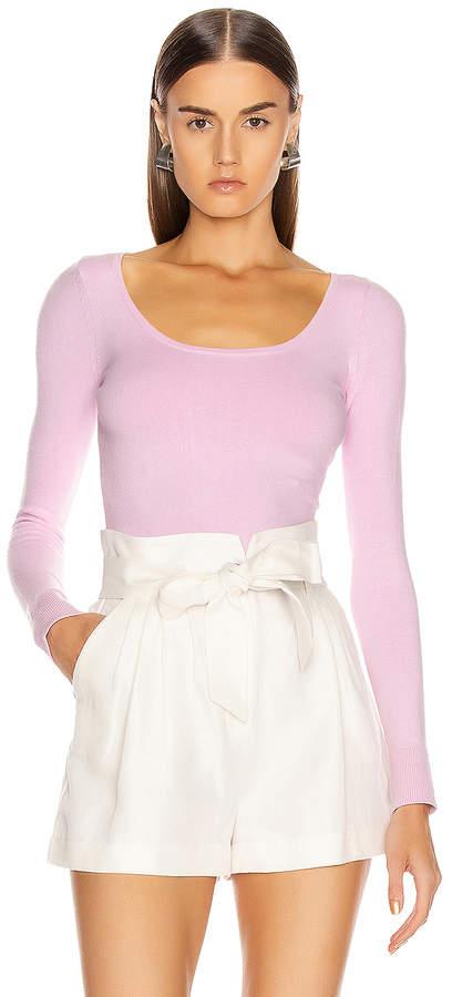 JoosTricot Scoop Neck Sweater in Wild Rose   FWRD