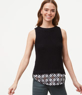 LOFT Patchwork Two In One Sweater Tank