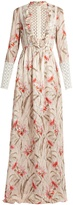 Giambattista Valli Daisy-print lace-trimmed silk-chiffon gown