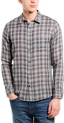 Vince Plaid Classic Fit Woven Shirt