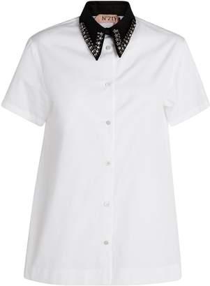 N°21 Embellished-Collar Shirt