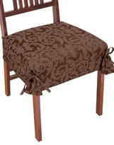 Damask Chair Covers, Color Taupe