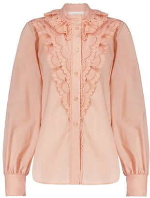 See by Chloe Broderie anglaise cotton blouse