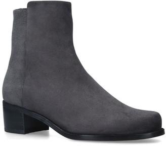 Stuart Weitzman Suede Easyone Reserve Ankle Boots