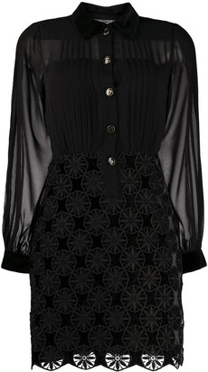 Sandro Embroidered Shirt Dress